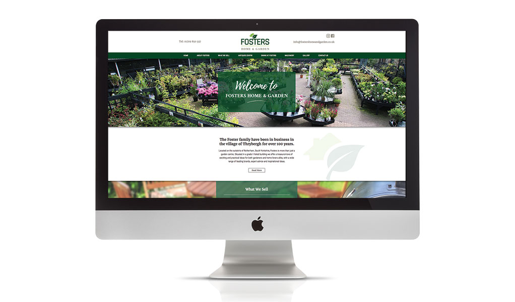 Fosters of Thrybergh, web design and development